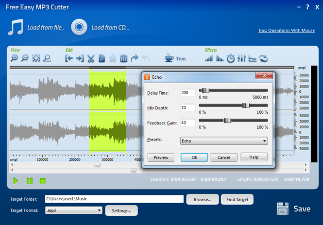Free Easy MP3 Cutter Screenshot