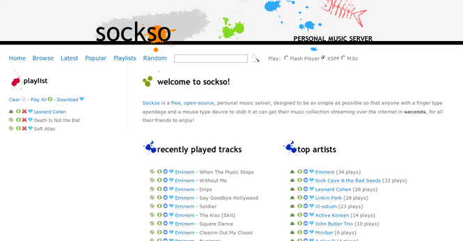 Sockso Screenshot 1