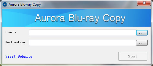 Aurora Blu-ray Copy for Windows Screenshot