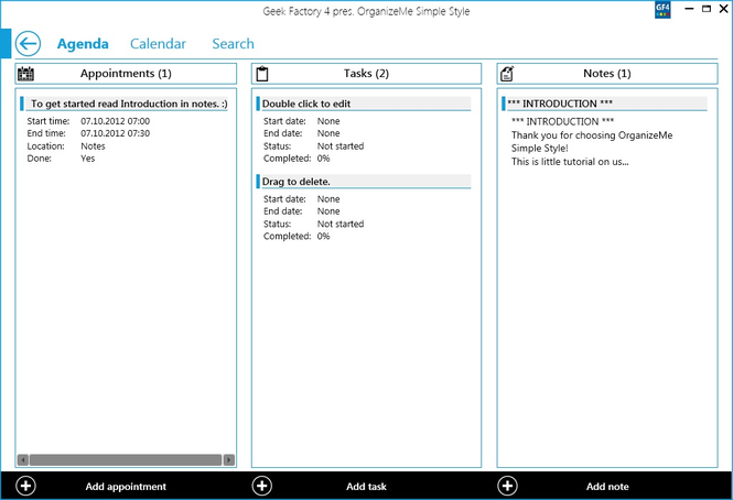 OrganizeMe Simple Style Screenshot