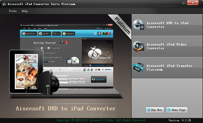 Aiseesoft iPad Converter Suite Platinum Screenshot 1