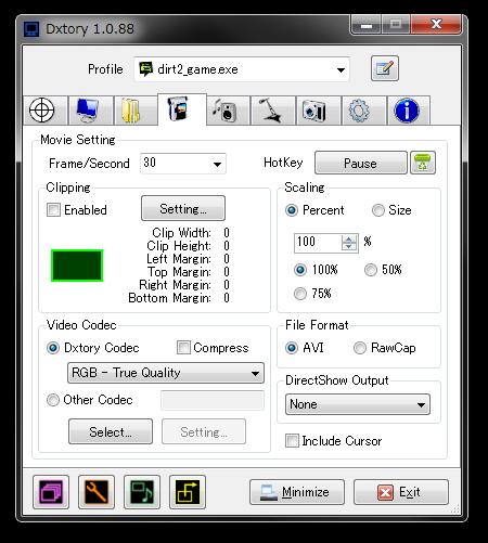 Dxtory Screenshot
