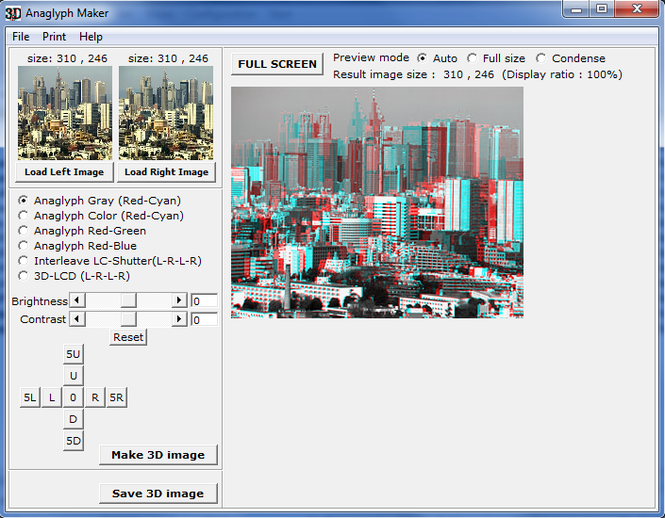 Anaglyph Maker Screenshot