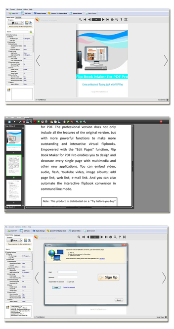 Flip Creator Pro for PDF Screenshot
