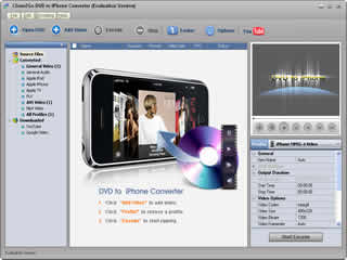 Clone2Go DVD to iPhone Converter Screenshot