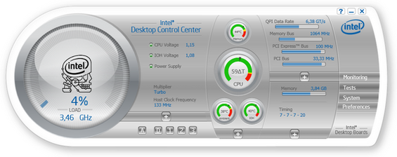 Intel Desktop Control Center Screenshot 1