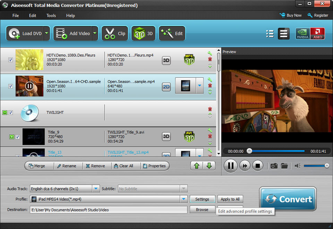 Aiseesoft Total Media Converter Platinum Screenshot