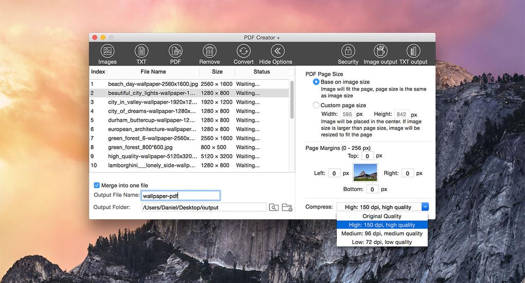 Lighten PDF Creator for Mac Screenshot 2