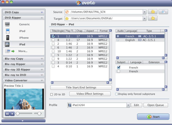 DVDFab Ripper Suite for Mac Screenshot