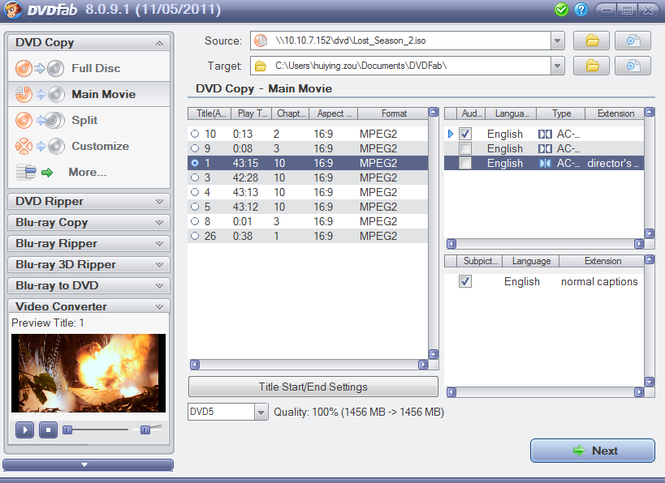 DVDFab Copy Suite Screenshot 1