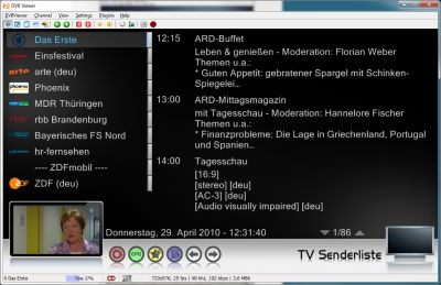 DVBViewer Screenshot 2