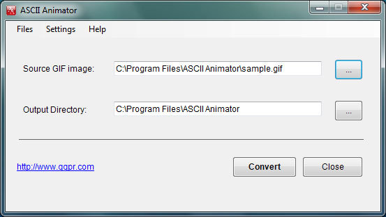 ASCII Animator Screenshot
