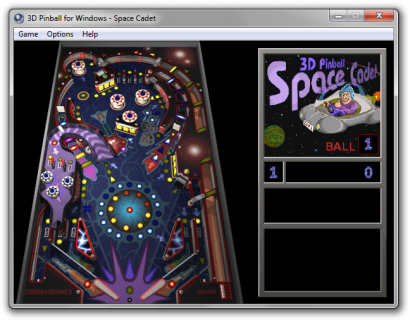 Microsoft 3D Pinball - Space Cadet Screenshot 1