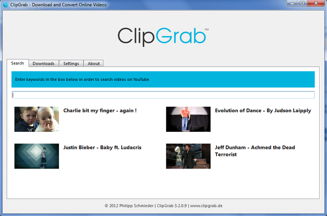 ClipGrab Screenshot 1