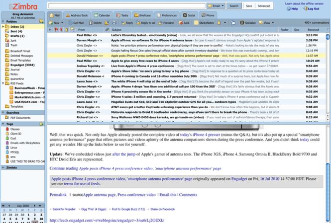 Zimbra Desktop Screenshot 3
