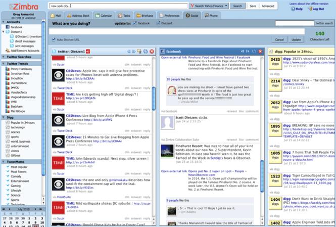 Zimbra Desktop Screenshot 4
