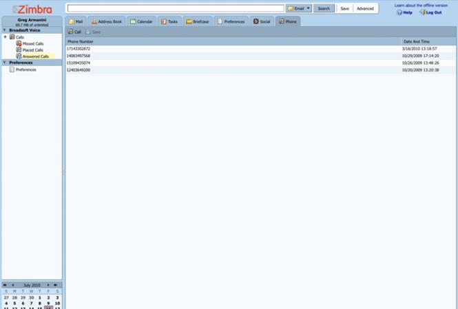 Zimbra Desktop Screenshot 7