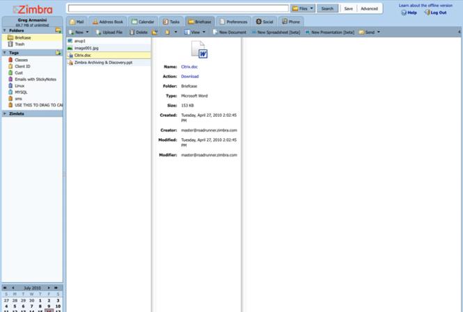Zimbra Desktop Screenshot 8