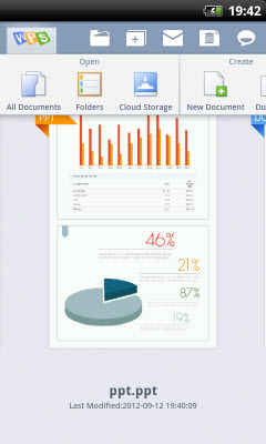 Kingsoft Android Office International Screenshot 1