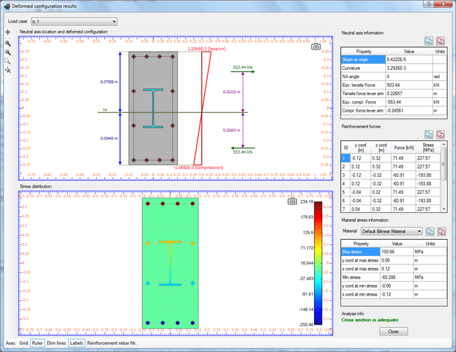 Cross Section Analysis & Design Screenshot 1