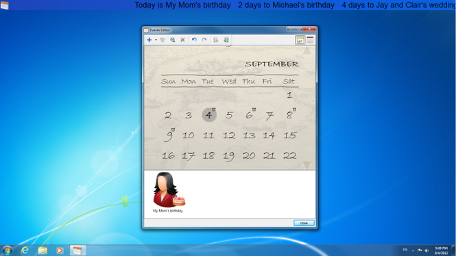 Holiline Reminder Screenshot 1