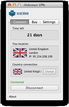Hideman Mac OS Screenshot
