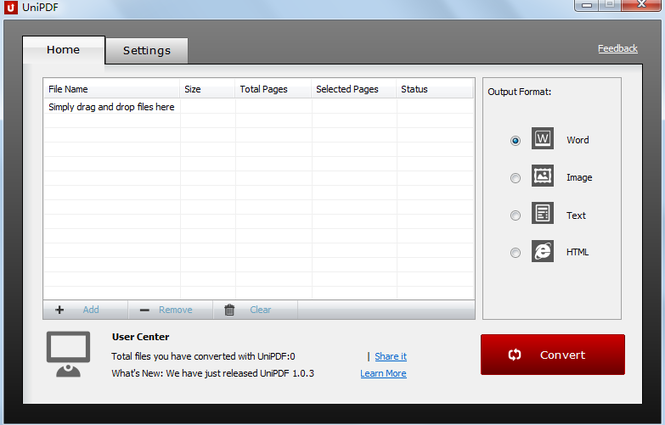 UniPDF Converter Screenshot