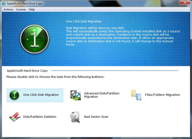 AppleXsoft Hard Drive Copy Screenshot