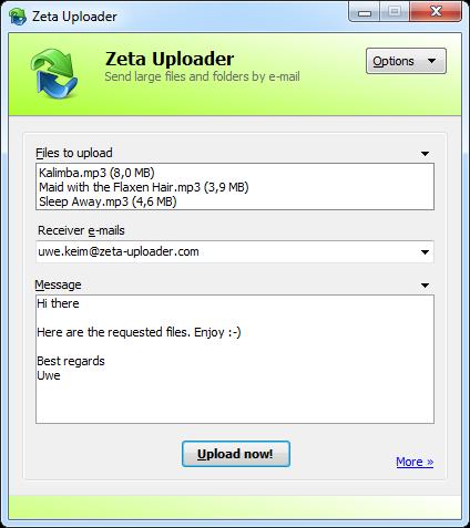 Zeta Uploader Screenshot