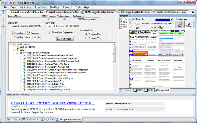 Visual SEO Studio Screenshot 1