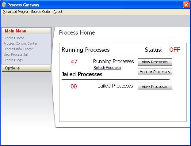 Advanced Process Gateway Screenshot