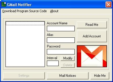 Google Mail Notifier Screenshot 1