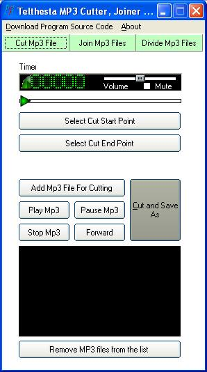 Xes MP3 Cutter and Joiner Screenshot
