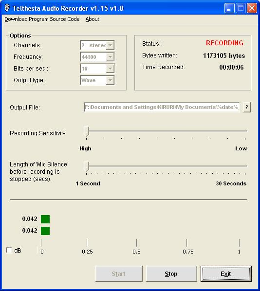 Xes Sound Recorder Screenshot