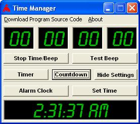 Time Manager and Reminder Screenshot