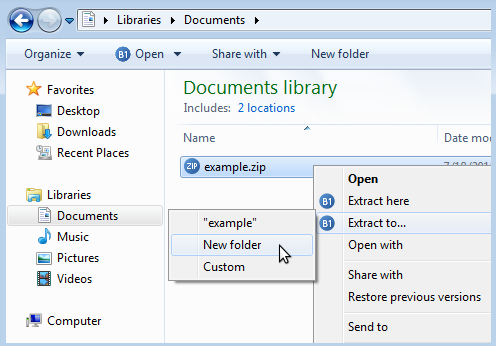 B1 Free Archiver Screenshot 3
