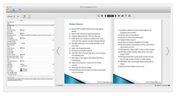 PDF to Flash Magazine for Mac Screenshot 1