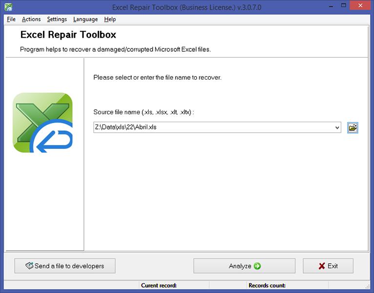 Excel Repair Toolbox Screenshot 5