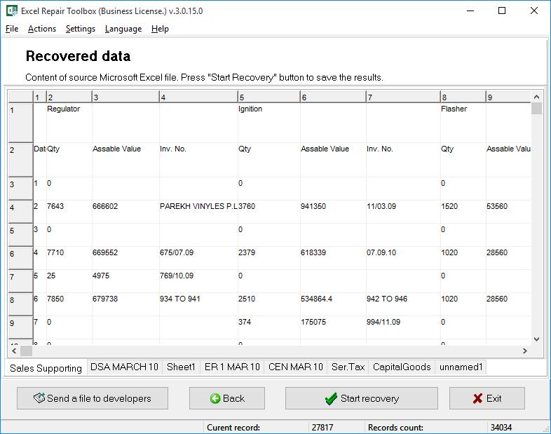 Excel Repair Toolbox Screenshot 2