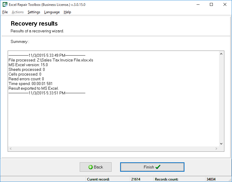 Excel Repair Toolbox Screenshot 4