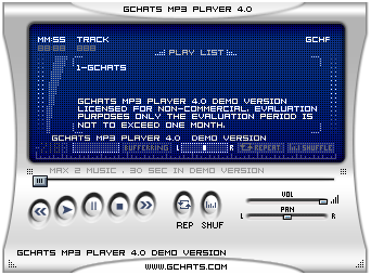 GChat Flash mp3 player Screenshot 1