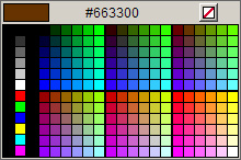Javascript color picker Screenshot