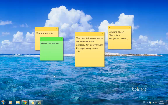 Evernote Sticky Notes Screenshot