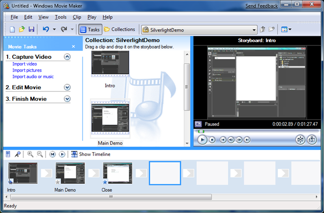 Windows Movie Maker (Windows Vista) Screenshot