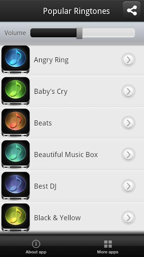 Popular Ringtones Screenshot
