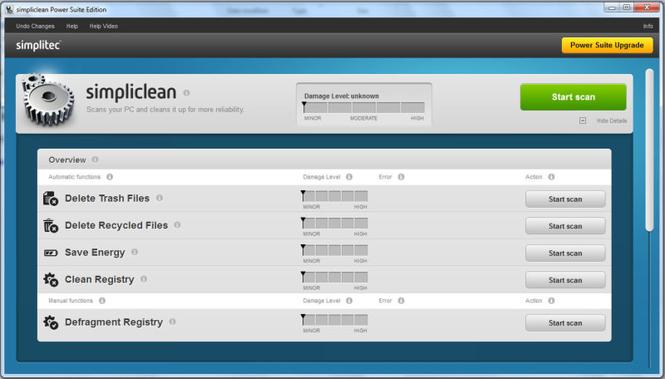 simplitec simpliclean Screenshot