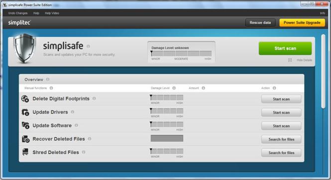 simplitec simplisafe Screenshot