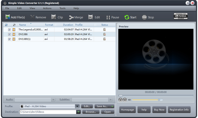 Simple Video Converter Screenshot 1