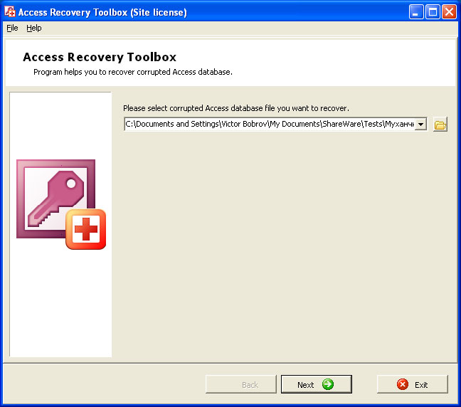 Access Recovery Toolbox Screenshot