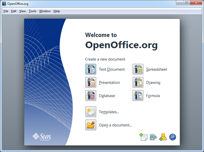 OpenOffice.org Portable Screenshot